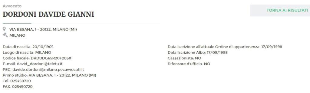 Информация об адвокате в Италии